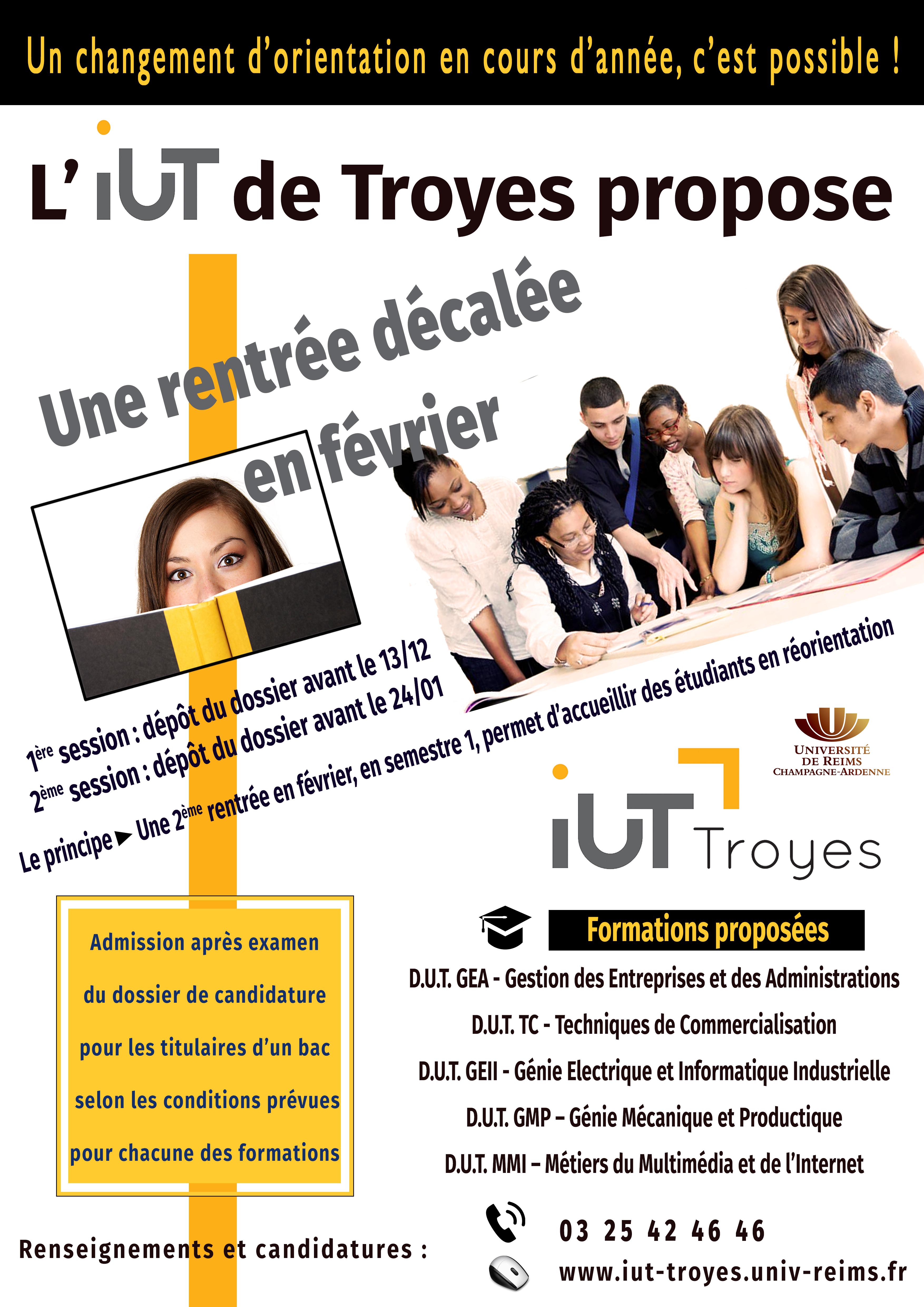Se Réorienter Cest Possible à Liut Iut De Troyes